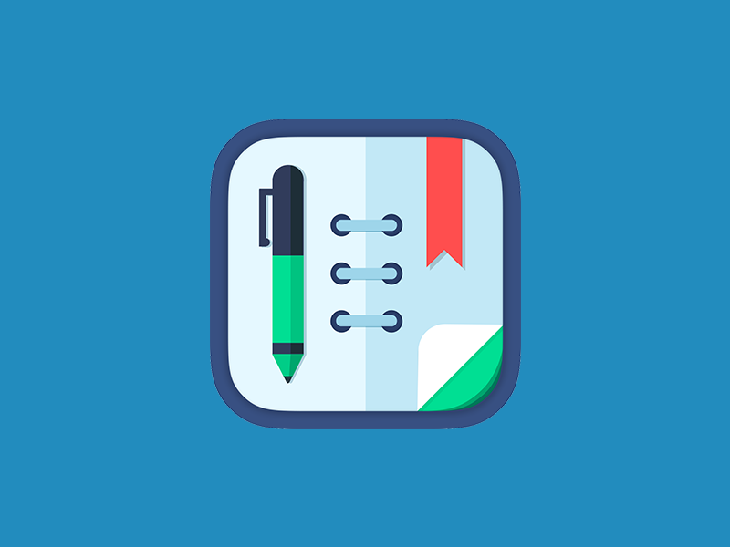 schedule planner app icon by intersog dribbble. Black Bedroom Furniture Sets. Home Design Ideas