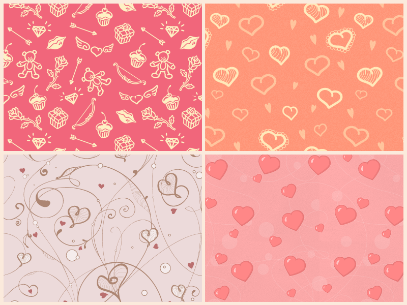 Free St Valentine's Day Patterns - .PAT dart117 pattern photoshop pattern st valentines day holiday pattern background heart present package