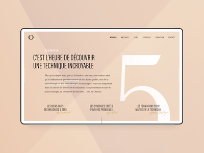 Osmose website webdesign site landing design