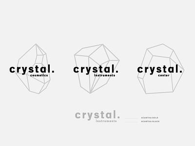 Crystal logo pure gray font design logo