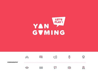YAN GAMING iconography identity gaming branding logo