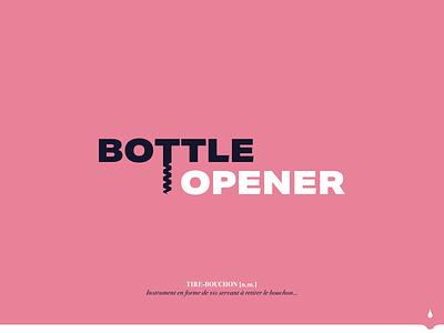 Bottle opener logo bottle wine logos