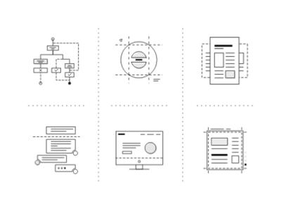 Icon set icon set illustration logo design