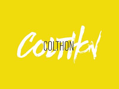Colthon Beer typography logo branding beer branding beer