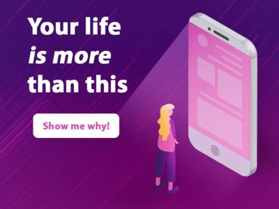 Your Life is More tech smartphone ux app design illustrator illustration