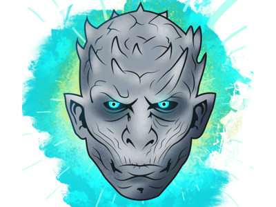 The Night King character art colors illustration got