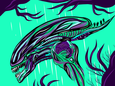 Alien on iPad Pro :)