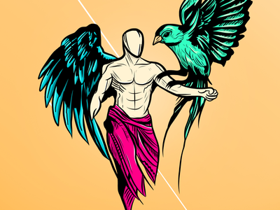 Angel sketch draw bird angel illustration