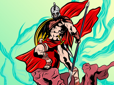 Be a Hero! work art soldier roman cover draw flat illustration