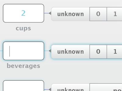 Data Tracker Prototype arrow input field input glow