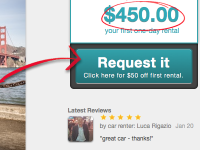 Request it (call to action) call to action button rental review