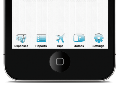 Custom iPhone Icons icons expenses reports trips outbox settings helvetica neue iphone