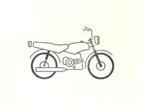 Honda win motorcycle Tattoo