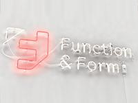 Neon sign render for Function & Form Digital