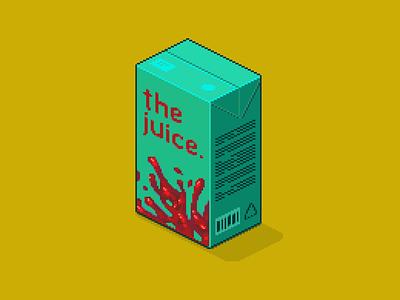 Blood juice. Juice juice. yellow drink pack blood design juice illustration pixelart isometric