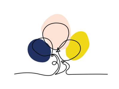 Ballons One Line