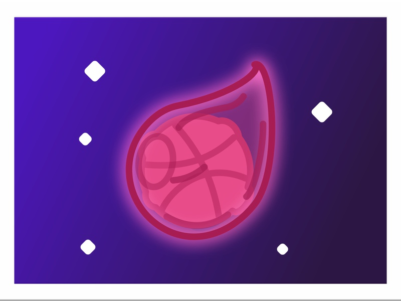 Hello Dribbble!!! space illustration design affinity designer