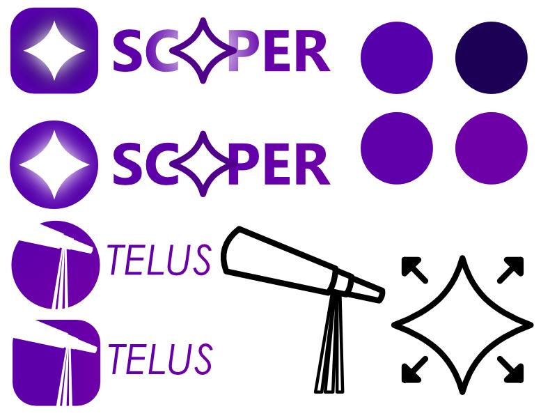 Stargazing app logo ideas logos icon illustration design affinity designer
