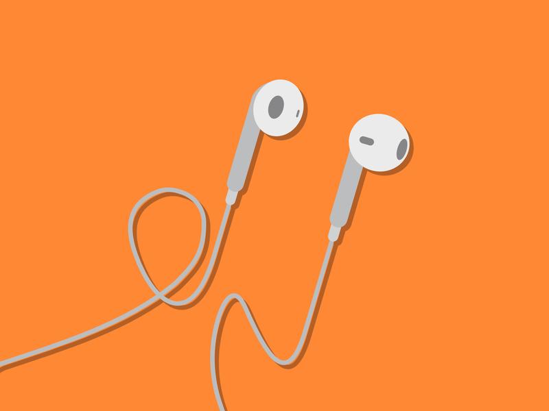 Ear buds adobeillustrator affinitydesigner vector illustration design affinity designer