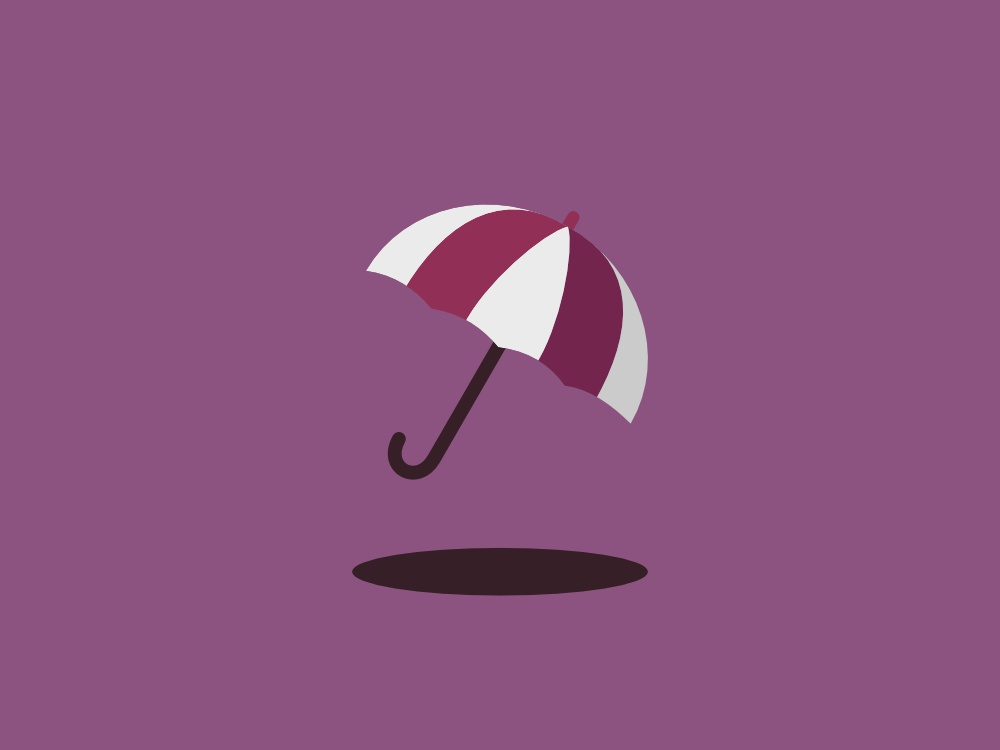 Simple Umbrella 2d flat vector design illustration