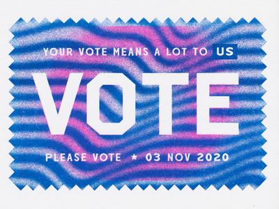 Please Vote 2020 2020 vote pattern psychedelic risograph riso lettering design illustration