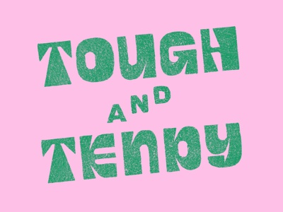 Tough and Tendy 60s 70s procreate drawing lettering illustration