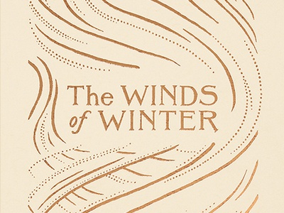 The Winds of Winter Book Cover ice wall winter snow winds thrones medieval gold foil fantasy book cover book lettering drawing wacom design illustration