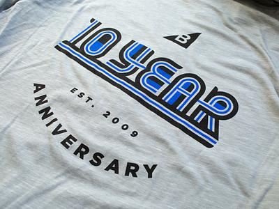 BigCommerce 10 Year Anniversary Logo typography logo design bigcommerce hoodie
