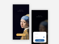 Girl with a Pearl Earring Inspired Mobile UI