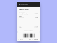 Email Receipt - 017 #dailyui