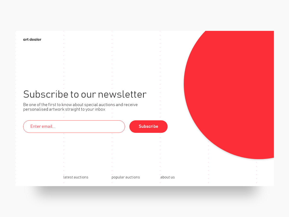 Subscribe UI - #dailyui 026 invite join newsletter input email subscribe 026 web daily ui madewithadobexd ux interface adobe xd design ui