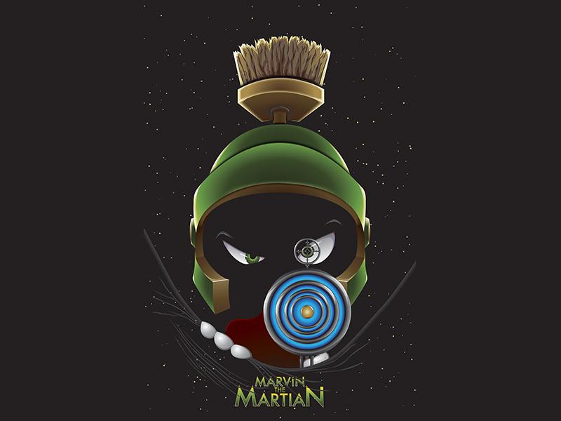 marvin the martian by adam ferrante dribbble