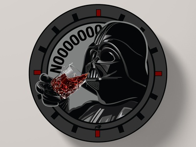 Darth Vader Coaster Illustration