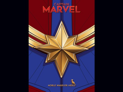 Captain Marvel Logo Poster