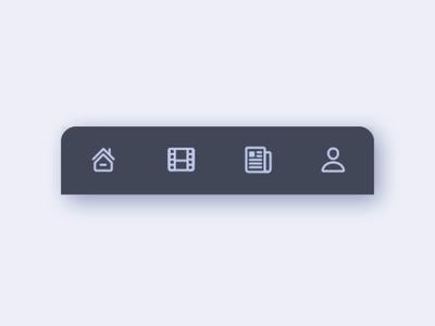 Moovi - Bottom Navigation sketchapp flow user news movie home uiux design ui mobile app mobile ui bottom navigation navigation menu navigation bottom nav