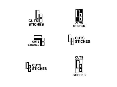 Cuts and Stiches brand identity branding logo