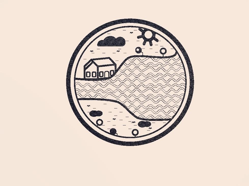 time minimal icon logo flat website art branding design illustration