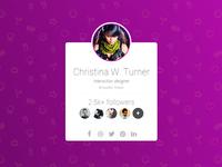 User card freebie (HTML/CSS)
