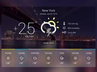 Weather Widget freebie HTML/CSS