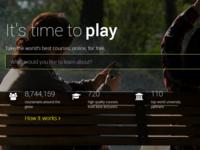Coursera redesign live website