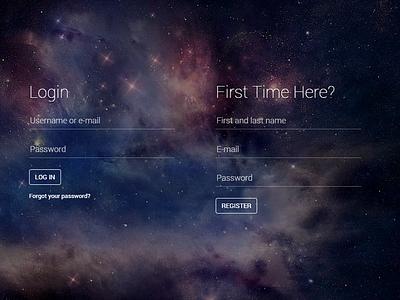 Freebie! Fancy login/register html page (look at demo) ui freebie login register html animation css3 canvas