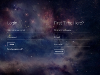 Freebie! Fancy login/register html page (look at demo)