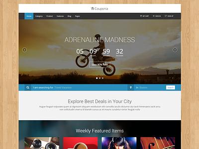 Recent Premium HTML Template html css template premium coupon e-commerce