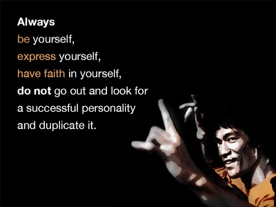 Bruce Lee Inspiration express yellow bruce lee quote inspiration