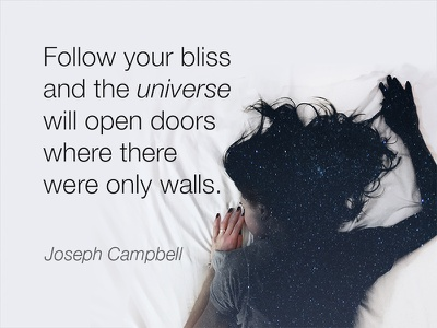 Joseph Campbell Inspiration wisdom life inspiration universe quote