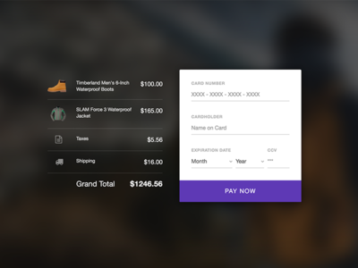 Live! Credit Card UI challenge (Freebie)