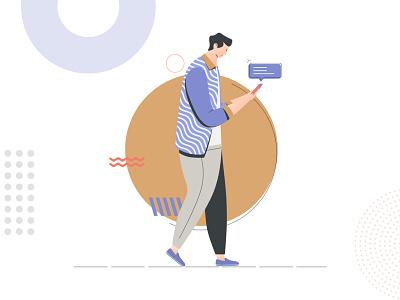 Notification illustration vector illustration vector ui  ux system popular illustration art illustration flat illustration flat design flat dribbble design character design character branding