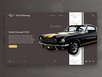 Classic Cars Website Concept website website design webdesign web app app ui design branding system design ux ui