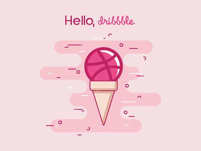 Hello Dribbble! This Logo My First Shot first design logo design debut simple design shot logo flat vector icon design logo