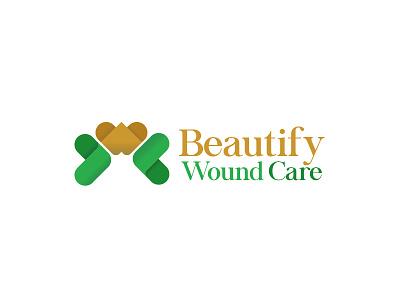 Beautify Wound Care - Logo Concept branding modern logo design py logo concept icon flat shot logo logo design debut